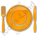 Restaurant Tableware Plain Orange Icon, PNG/ICO, 128x128