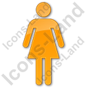 Restroom Women Plain Orange Icon