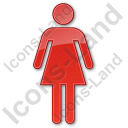 Restroom Women Plain Red Icon