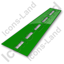 Road Plain Green Icon, PNG/ICO, 128x128