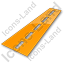 Road Plain Orange Icon, PNG/ICO, 128x128