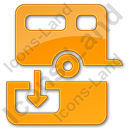 Sanitary Disposal Station Plain Orange Icon, PNG/ICO, 128x128