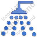 Shower Plain Blue Icon