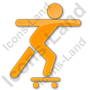 Skateboarding Plain Orange Icon