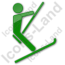 Ski Lift Surface Lift Plain Green Icon, PNG/ICO, 128x128