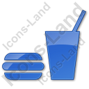 Snack Bar Plain Blue Icon, PNG/ICO, 128x128