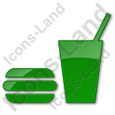 Snack Bar Plain Green Icon