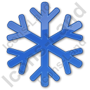 Snow Plain Blue Icon, PNG/ICO, 128x128
