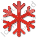 Snow Plain Red Icon, PNG/ICO, 128x128