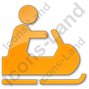Snowmobiling Plain Orange Icon, PNG/ICO, 128x128