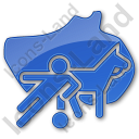 Sports Plain Blue Icon