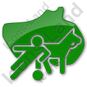 Sports Plain Green Icon, PNG/ICO, 128x128