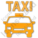 Taxi Plain Orange Icon, PNG/ICO, 128x128