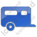Trailer Plain Blue Icon, PNG/ICO, 128x128