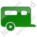 Trailer Plain Green Icon, PNG/ICO, 128x128