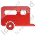 Trailer Plain Red Icon, PNG/ICO, 128x128
