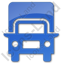 Truck Plain Blue Icon, PNG/ICO, 128x128