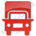 Truck Plain Red Icon, PNG/ICO, 128x128