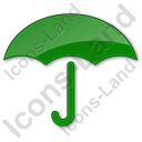 Umbrella Plain Green Icon
