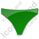 Underwear Plain Green Icon