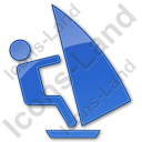 Windsurfing Plain Blue Icon