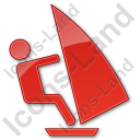 Windsurfing Plain Red Icon