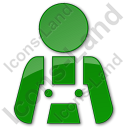 Worker Plain Green Icon