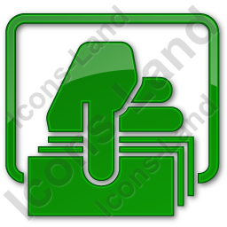 ATM Money Out Plain Green Icon, PNG/ICO, 256x256