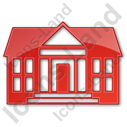 Administration Plain Red Icon, PNG/ICO, 256x256