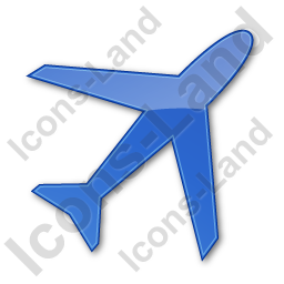 Airport Plain Blue Icon, PNG/ICO, 256x256