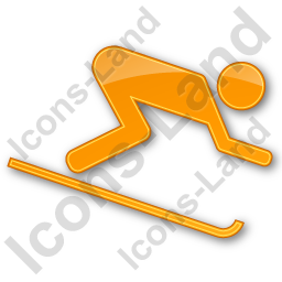 AlpineSkiing Plain Orange Icon