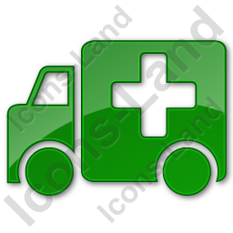 Ambulance Plain Green Icon