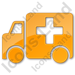 Ambulance Plain Orange Icon