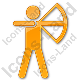 Archery Plain Orange Icon, PNG/ICO, 256x256