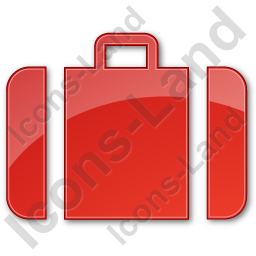 Baggage Plain Red Icon, PNG/ICO, 256x256