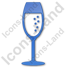 Bar Champagne Plain Blue Icon, PNG/ICO, 256x256