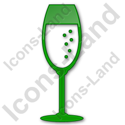 Bar Champagne Plain Green Icon