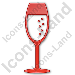 Bar Champagne Plain Red Icon, PNG/ICO, 256x256