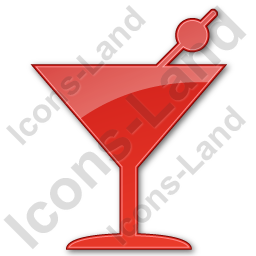 Bar Martini Plain Red Icon