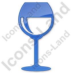 Bar Wine Plain Blue Icon, PNG/ICO, 256x256