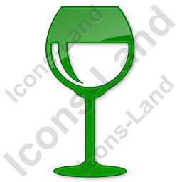Bar Wine Plain Green Icon