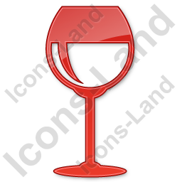 Bar Wine Plain Red Icon