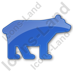 Bear Plain Blue Icon