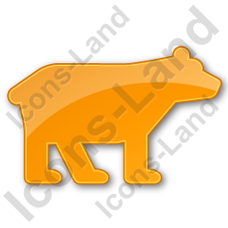 Bear Plain Orange Icon, PNG/ICO, 256x256