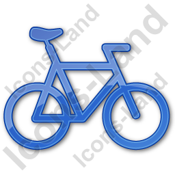 Bicycle Plain Blue Icon