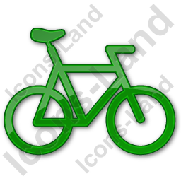 Bicycle Plain Green Icon, PNG/ICO, 256x256