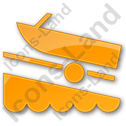 Boat Ramp Plain Orange Icon