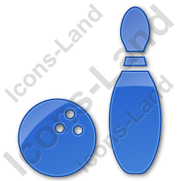 Bowling Plain Blue Icon, PNG/ICO, 256x256