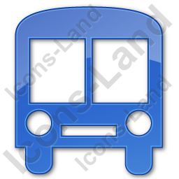 Bus Station Plain Blue Icon