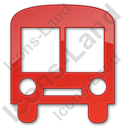 Bus Station Plain Red Icon, PNG/ICO, 256x256